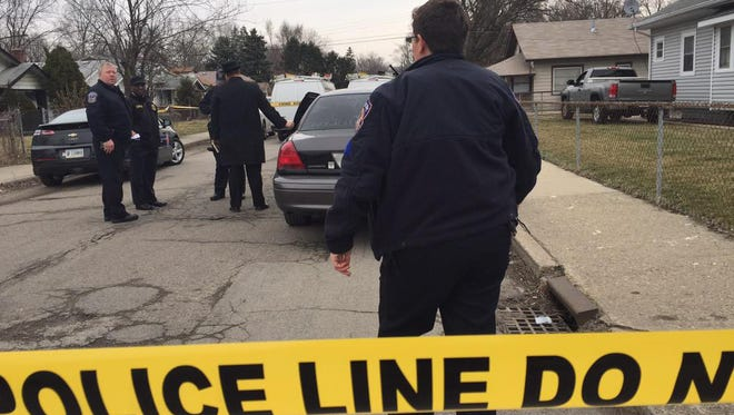 Indianapolis Metropolitan Police say four people were found dead at a home in the city on Tuesday, March 24, 2015.