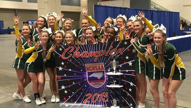 Reynolds cheerleaders won their fourth consecutive NCHSAA championship on Saturday in Raleigh.