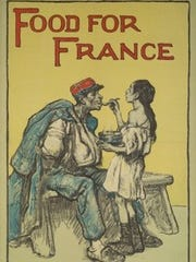 """""""Food for France,"""" by Francis Luis Mora, part of """"The War to End All Wars: Artists and World War I"""" at the Herbert F. Johnson Museum of Art."""