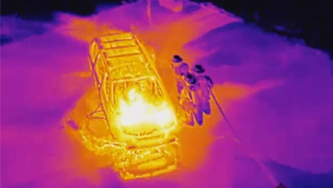 Thermal imaging cameras from FLIR systems detect heat and fire using infrared light.