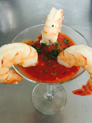 Shrimp cocktail from chef Shawn Calley.