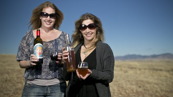 Arizona Hops and Vines owners Megan Haller (left) and Shannon Zouzoulas no longer plan to name an India Pale Ale after Rep. Don Shooter.