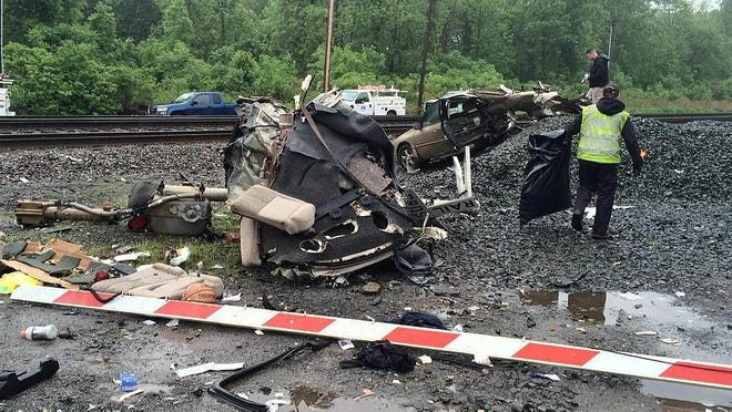 A man is dead after the car he was driving was struck by an Amtrak passenger train early Monday morning on King Road in Chili.