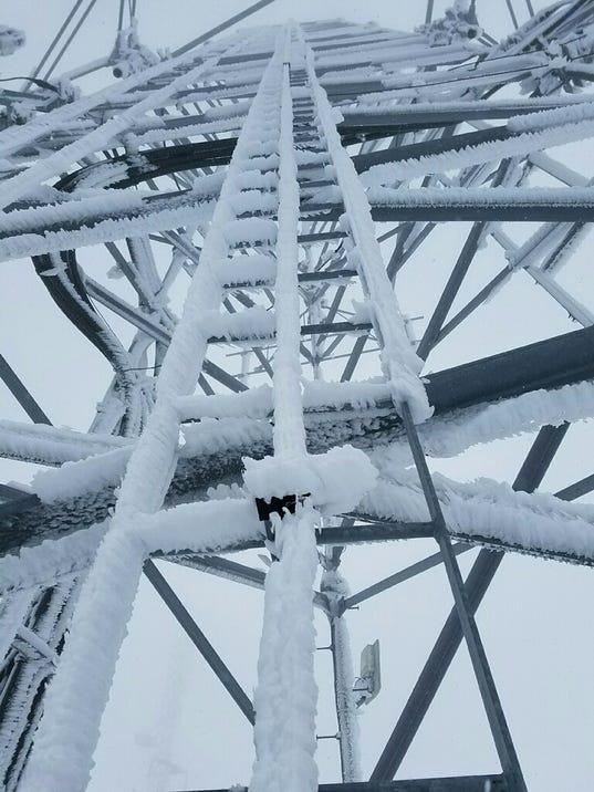 Ice thwarts tower repairs