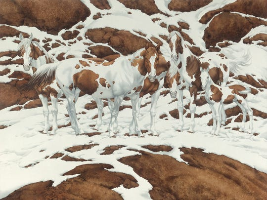 """""""Pintos"""" was the painting that led to Bev Doolittle's"""
