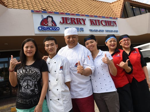 The Jerry Kitchen staff in Tamuning on July 18, 2017.
