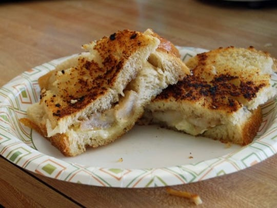 Brie and Apple Grilled Cheese sandwich.