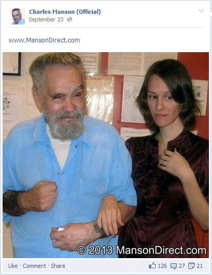 Woman wants to marry manson