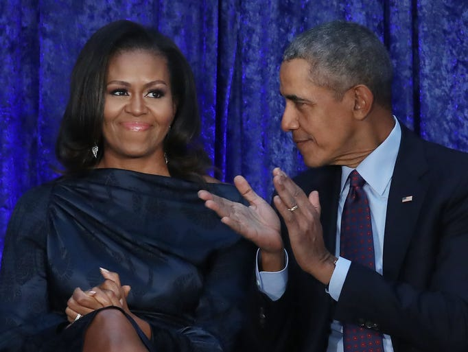 Former President Barack Obama and First Lady Michelle