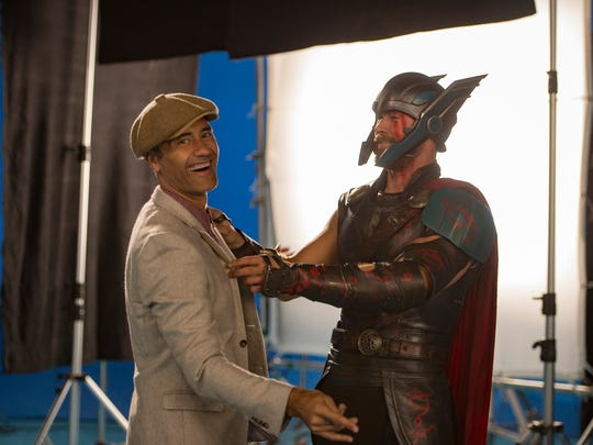 Director Taika Waititi jokes on the set of 'Thor: Ragnarok'