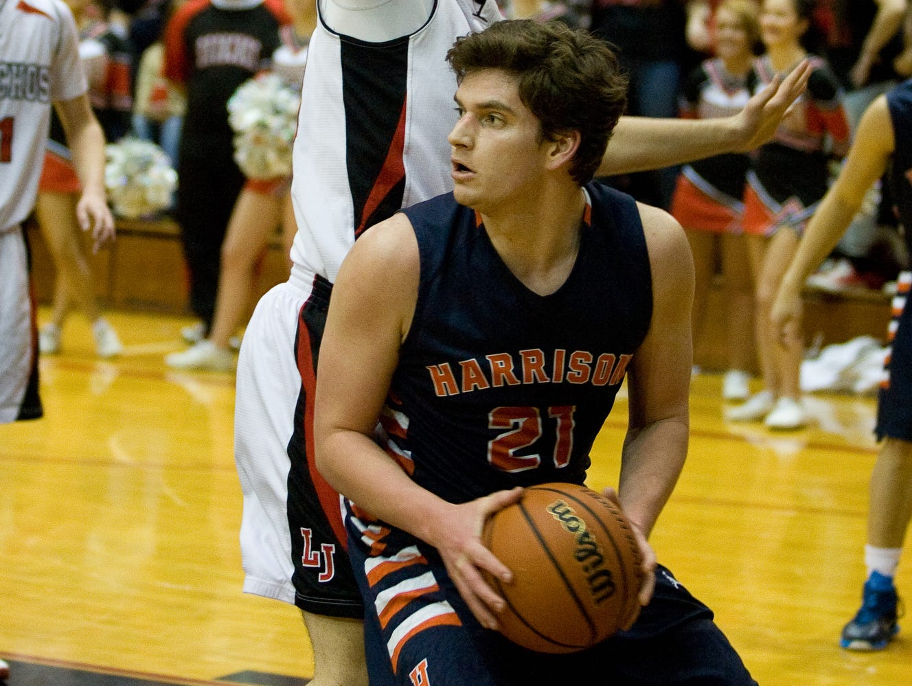 Aidan Hannon is one of the few veterans on the Harrison boys basketball team.