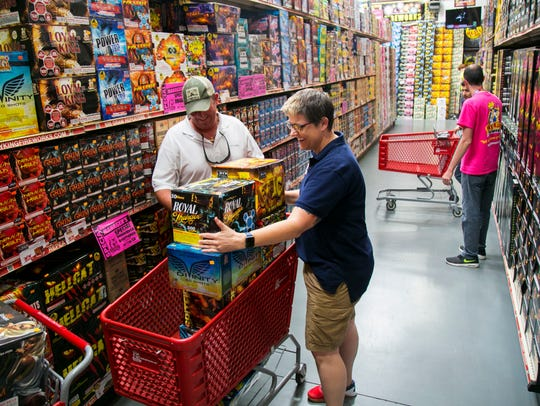Mel Crawford, manager of Sky King Fireworks in south