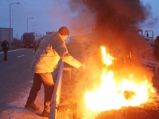 AP Ukraine Poland Border Protest