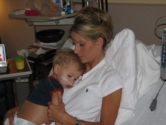 Ashley Kubik regularly slept in the same bed with her son Cross when he was battling for his life as a patient at St. Jude Children's Research Hospital.