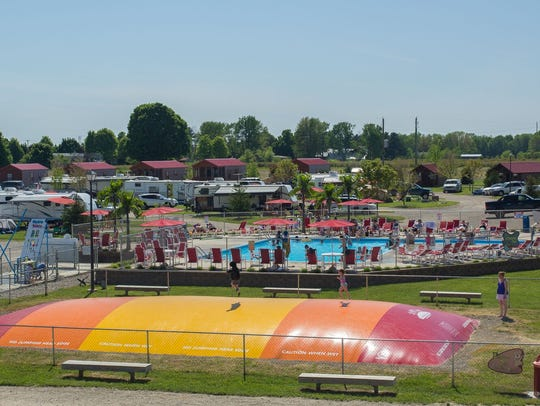 Water play areas and cabins are big attractions for