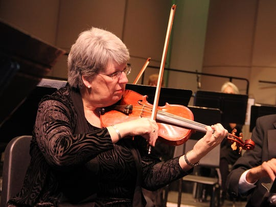 Cathy Pope will serve as the concertmaster for Friday night's San Juan Orchestra performance in Farmington.