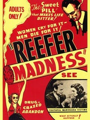 "Movie poster for the 1936 scare film ""Reefer Madness."""