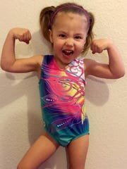 Emma Rester is a 3-year-old gymnast who was featured on national TV on Thursday. She trains at Gym Magic in Las Cruces.