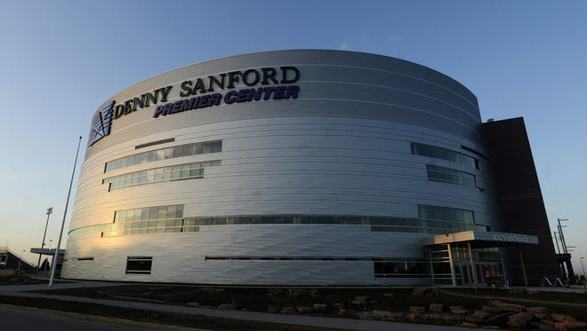 Elisha Page / Argus Leader The Denny Sanford Premier Center opened last year. Denny Sanford Premiere Center, Aug 13, 2014.