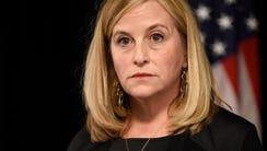 Nashville Mayor Megan Barry speaks to the media at
