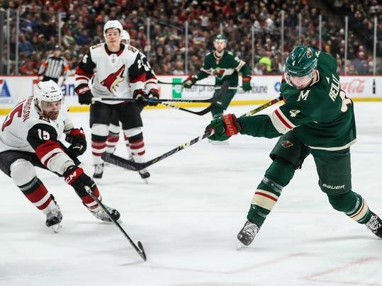 NHL: Arizona Coyotes at Minnesota Wild