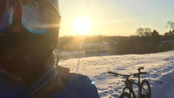 It was 14 below zero when I took this selfie. I was