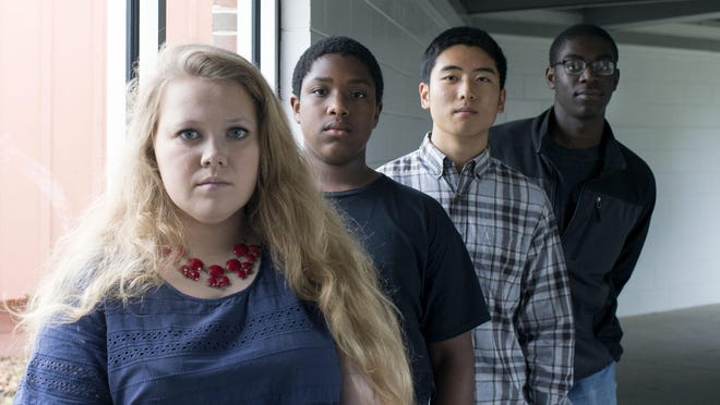 Wicomico High School students, from left, Rebecca Bizzarri, Jeffrey Dumpson, Sang Oh and Mike Angelot.