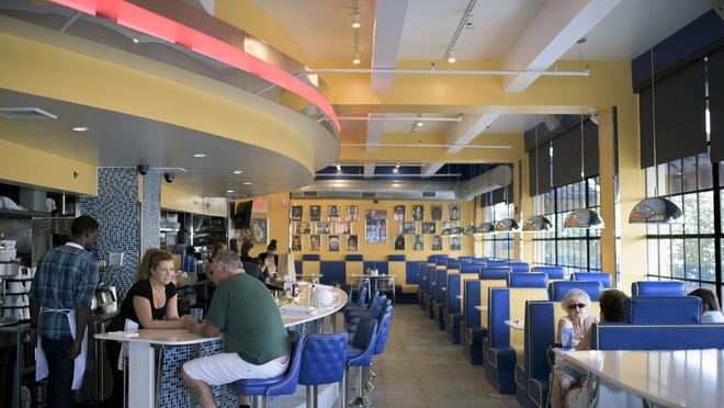 Mugshot Diner on York Street in Philadelphia has a cheery interior. A second diner is located in Mount Holly.