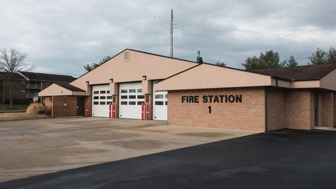 An exterior view of Fire Station One on Beaglin Park Drive.