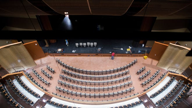 A look inside the new performing arts center auditorium inside the Roland E. Powell Convention Center in Ocean City.