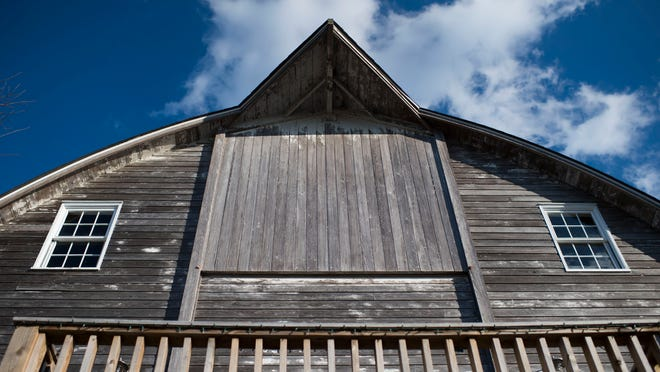The exterior of Bryce Lingo's barn in Lewes.