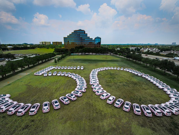 The 50th year is marked in pink Cadillacs for Mary Kay, the big cosmetics provider