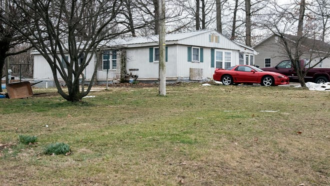The house in the 800 block of East Berlin Road where Tracy Williams, 48, was shot and killed on Sunday night. Pennsylvania State Police are investigating.