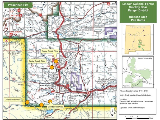 Ruidoso-Pile-Burns map