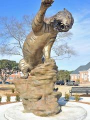 The tiger statue on the campus of Grambling State University.