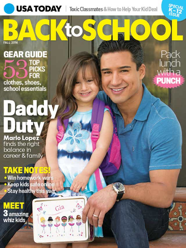 Mario Lopez Goes Back To School
