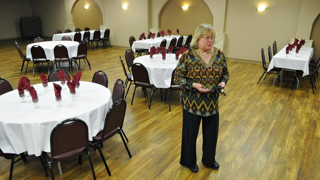 In this file photo, Diane Cash, Tuscan Center manager, gives a tour of the Tuscan Center.