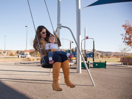 St. George residents enjoy one of the city parks in