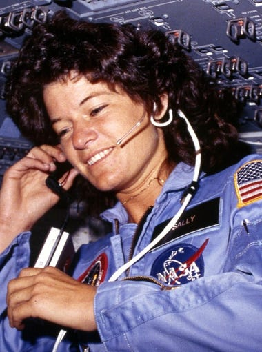Over the last seven decades, women have broken through barriers and advanced women's rights in politics, business, sports and elsewhere. 24/7 Tempo created this list of women's accomplishments over that time including Sally Ride, shown here, who in 1983 became the first American woman in space.