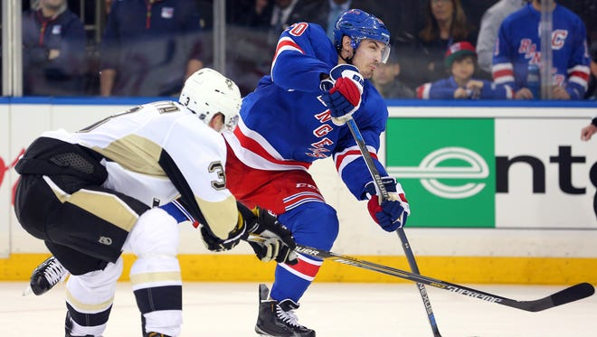 New York Rangers left wing Chris Kreider had a goal disallowed because of a teammate that was offside.