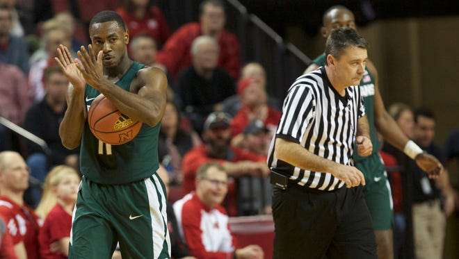 Tum Tum Nairn Jr. reacts during Michigan State's 72-61 win at Nebraska on Feb. 2.