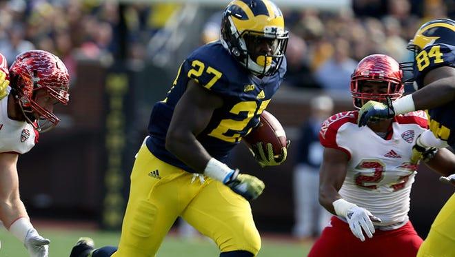 Michigan running back Derrick Green