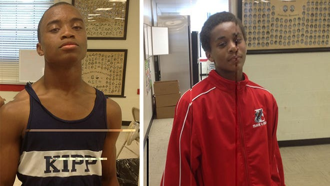 The two teenage boys who drowned Friday on a field trip to Cummins Falls State Park have been identified as D'Donta Gray, left, and KeyVonte Cunningham, both 13 and from Nashville.