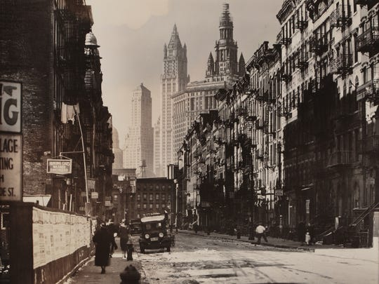 "Berenice Abbott's ""Henry Street Looking West From Market"