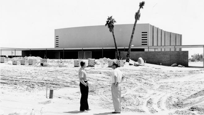 Palm Springs High School Auditorium, circa 1958.