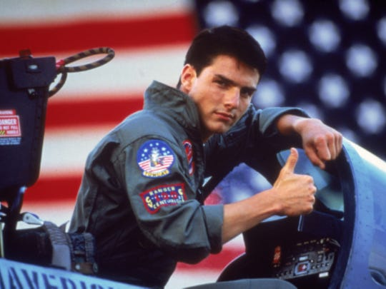 "Tom Cruise has a need for speed, among other things, in the 1986 action hit ""Top Gun."""
