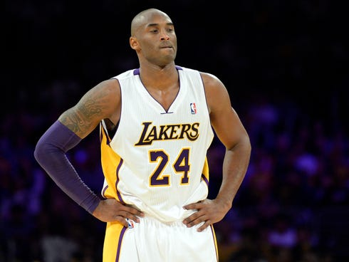 Lakers guard Kobe Bryant made his return from Achilles tendon surgery Sunday but struggled with turnovers and poor shooting.