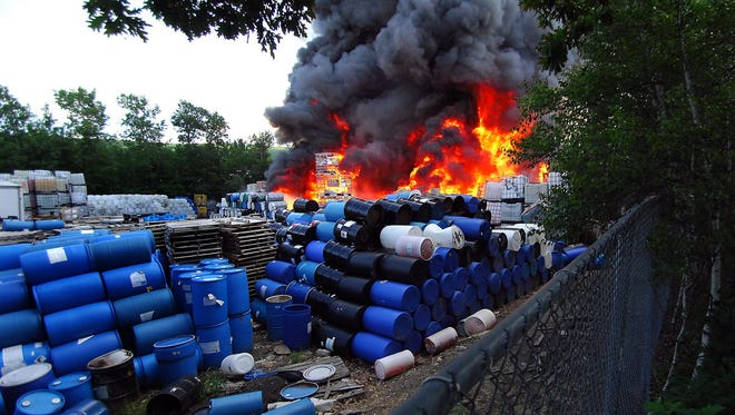 A June 2014 fire at Scranton Cooperage in Jessup, Pa., was started when a forklift operator punctured a drum of sodium chlorite. Nearby residents were evacuated and firefighters had to stand down due to exploding drums.