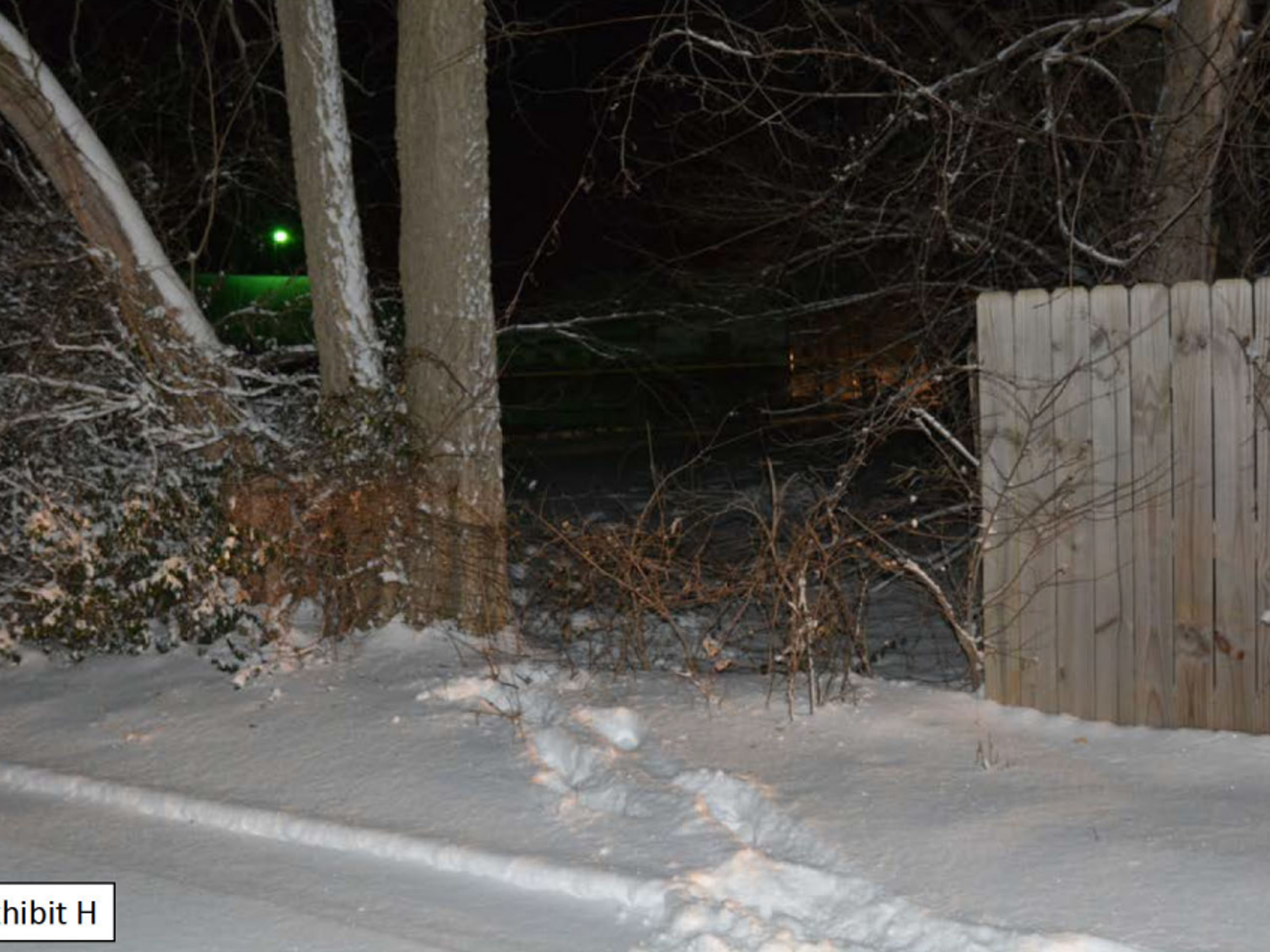 Police say footprints on the snowy evening helped Officer