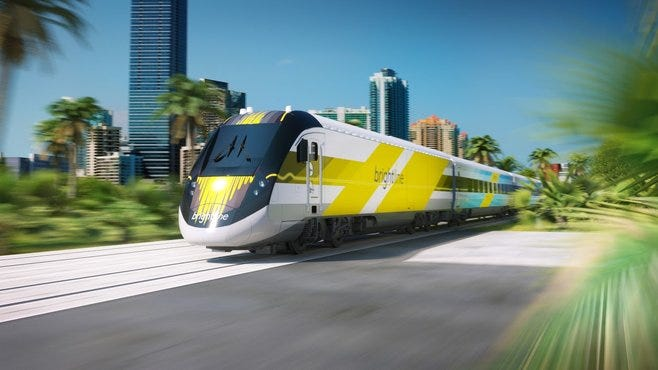 Rendering of All Aboard Florida's brightline train. (CONTRIBUTED PHOTO/ALL ABOARD FLORIDA)